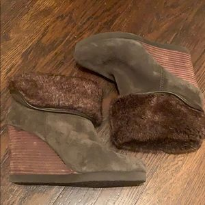 Lucky Brand Fur/Suede Booties